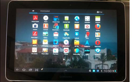 Samsung tablet. Picture:Clare Matthes/EWN.