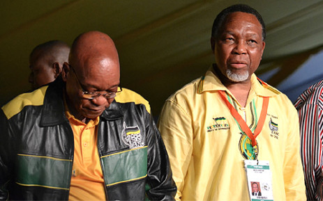 ANC President Jacob Zuma and his deputy Kgalema Motlanthe on 16 December 2012, the first day of the party's conference in Mangaung on. Picture: Aletta Gardner/EWN