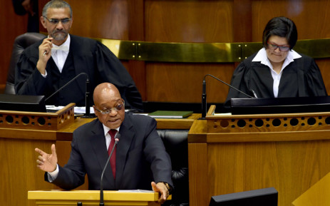 President Jacob Zuma answering questions in the National Assembly, Parliament, Cape Town on 19 November 2015. Picture: GCIS.