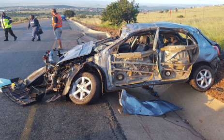 Two people were killed and two critically injured in a collision in Carletonville. Picture: @ER24EMS.