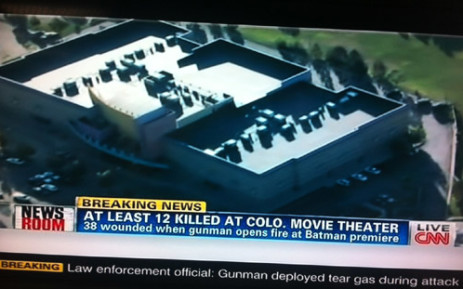 A screengrab of the Colorado shooting from CNN.