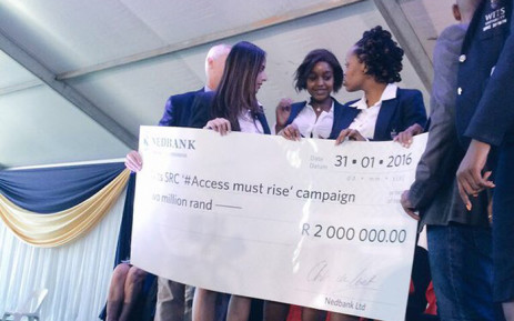 Wits SRC President has urged all stakeholders, from the public sector to the private sector, to donate money to the Access campaign. Picture: Masa Kekana/EWN.