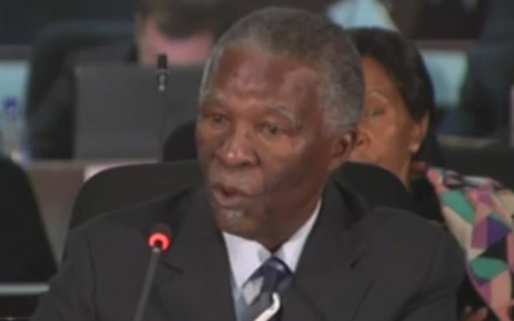 Former South African President Thabo Mbeki. Picture: screengrab.