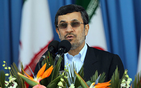 Iranian President Mahmoud Ahmadinejad again denied Iran was trying to develop nuclear weapons.