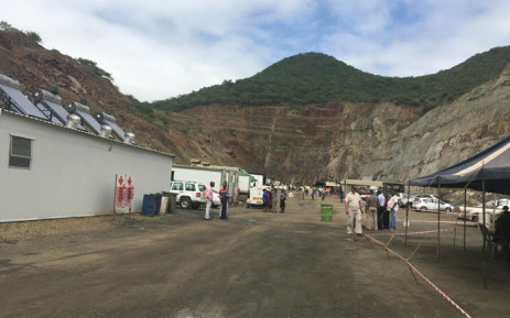 FILE: The dirt road leading to the area where the collapse happened at the Lily mine near Barberton, Mpumalanga. Picture: Govan Whittles/EWN.