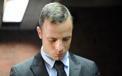 South African Paralympic sprinter Oscar Pistorius appears in the Pretoria Magistrate Court on 20 February 2013. Picture: AFP