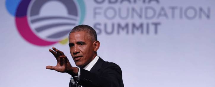 Former US President Barack Obama speaks at the Obama Foundation Summit in Chicago, Illinois, 31 October, 2017. Picture: AFP.