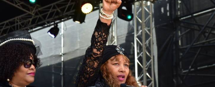 Zenani Mandela-Dlamini gives a speech at Winnie Madikizela-Mandela's funeral on 14 April 2018. Picture: SA Government News