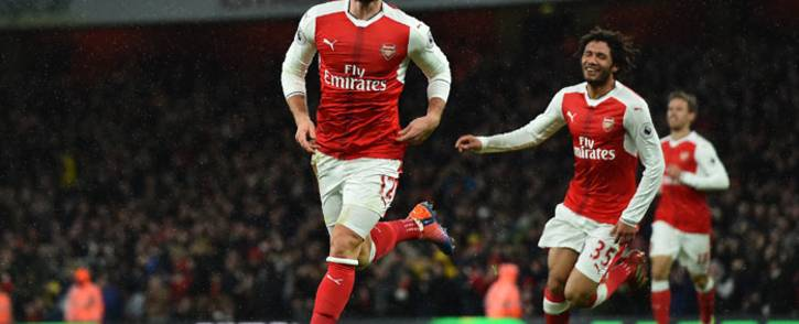 FILE: Arsenal's Olivier Giroud celebrates after scoring a goal. Picture: AFP
