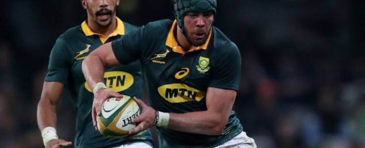 FILE: South Africa captain Warren Whiteley holds the ball during the International test match between South Africa and France at the Kingspark rugby stadium on June 17, 2017 in Durban. Picture: AFP.