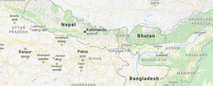 A screengrab of Nepal. Picture: Google Maps