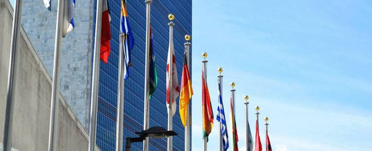 FILE: Flags at the United Nations Headquarters in New York. Picture: pixabay.com