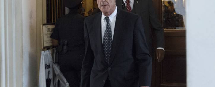 This file photo taken on 21 June 2017 shows former FBI Director Robert Mueller, special counsel on the Russian investigation, leaving following a meeting with members of the US Senate Judiciary Committee at the US Capitol in Washington, DC. Picture: AFP.