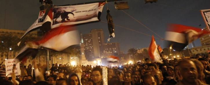 Tens of thousands of Egyptians protest in Cairos Tahrir square against Egypts military rulers late on November 24, 2011, as members of the ruling military council rejected calls to step down immediately. Picture: AFP