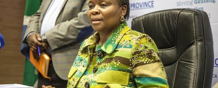 Gauteng Health MEC Gwen Ramokgopa. Picture: EWN.