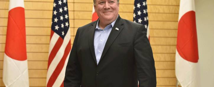 US Secretary of State Mike Pompeo waits for Japan's Prime Minister Shinzo Abe prior to their talks at Abe's official residence in Tokyo on 8 July 2018. Picture: AFP