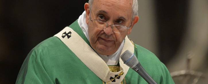 FILE: Pope Francis leads a mass on 15 February 2015 at St. Peters basilica in Vatican. Picture: AFP.