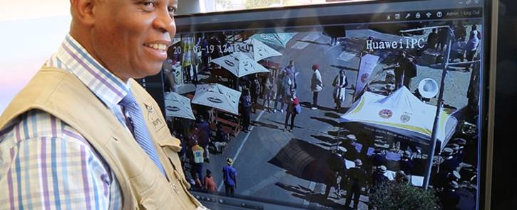 FILE: Herman Mashaba at Vilakazi Street after implementing tough security measures. Picture: Christa Eybers/EWN