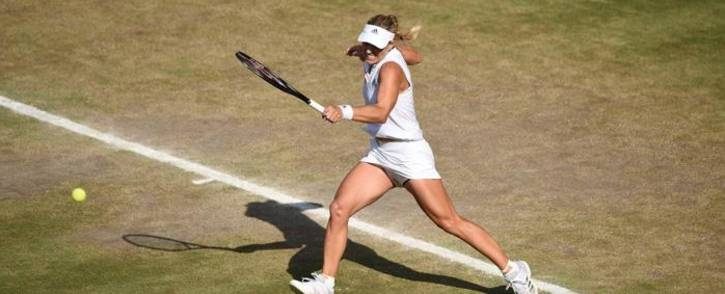 Angelique Kerber in action against Serena Williams during the final of the 2018 Wimbledon event. Picture: Twitter@Wimbledon