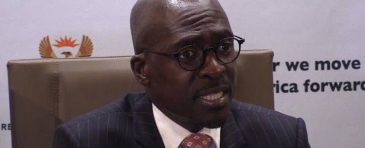 Finance Minister Malusi Gigaba speaking at his first media briefing  in Pretoria. Picture: EWN