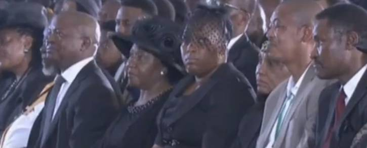 A screengrab of family, friends and colleagues attending the funeral of Sam Nzima on 26 May 2018.