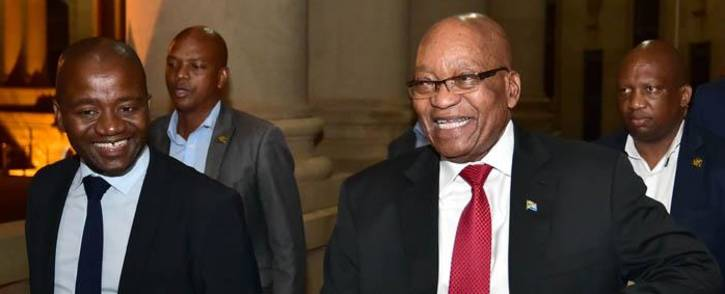 Jacob Zuma at the Union Buildings just before delivering an address on 14 February 2018 in which he announced his resignation as president of South Africa. Picture: GCIS