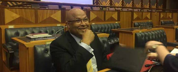 State Security Agency head Arthur Fraser in Parliament ahead of Scopa meeting on 7 December 2017. Picture: Lindsay Dentlinger/EWN