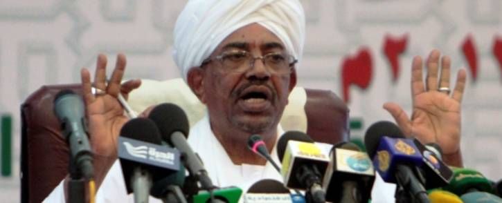 FILE: Sudanese President Omar al-Bashir speaks during a press conference in Khartoum in September 2013. Picture: AFP.