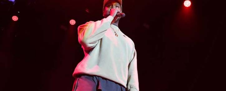 Kanye West onstage at Adidas Creates 747 Warehouse St, an event in basketball culture, on 17 February 2018 in Los Angeles. Picture: AFP