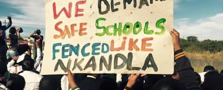FILE: Pupils protest for safer schools. Picture: Equal Education Facebook