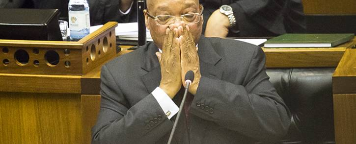 FILE: President Jacob Zuma answers questions in Parliament. Picture: Thomas Holder/EWN.