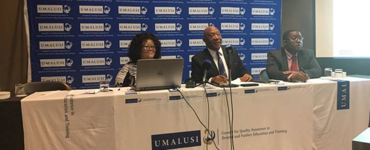 Umalusi representatives brief the media on its readiness for the 2017 matric exams. Picture: EWN