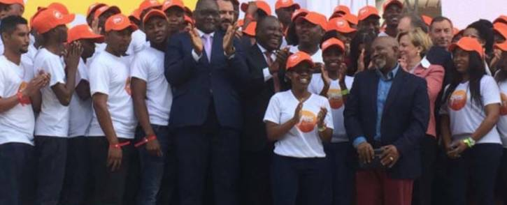 President Cyril Ramaphosa has officially launched the Youth Employment Service aimed at tackling unemployment among young people in South Africa. Picture: @SAgovnews/Twitter