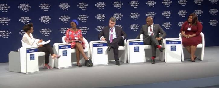 Oxfam's Winnie Byanyima, Boston Consulting Group's Richard Lesser, United Bank for Africa's Tony Elumelu and Lindiwe Mazibuko speak about Africa's leadership challenges in Durban on 3 May 2017.