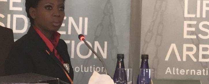 FILE: Nompilo Nkosi, whose brother survived the Esidimeni tragedy, gives her testimony on 1 December 2017. Picture: Masego Rahlaga/EWN