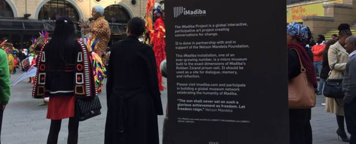 The iMadiba Installation Project was launched at Mandela Square in Sandton on 19 July 2018. Picture: Refilwe Pitjeng/EWN.