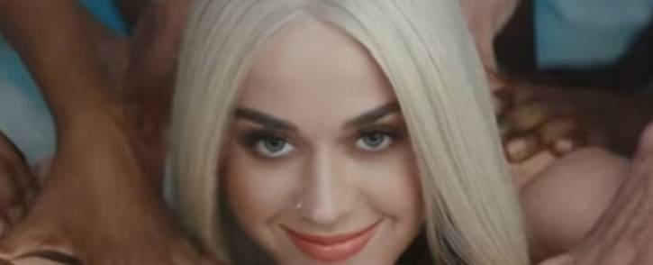 Katy Perry on the video of her new single 'Bon Appetit'. Picture: Twitter/@TooFab.