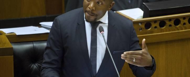 DA leader Mmusi Maimane in Parliament. Picture: AFP