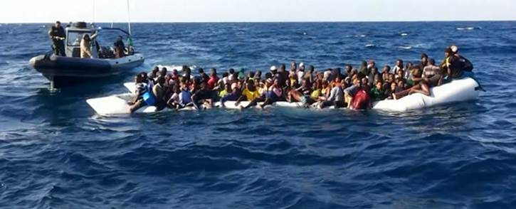 FILE: A boat full of migrants trying to reach Europe by crossing the Mediterranean sea. Picture: Supplied.