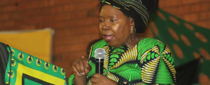 Nkosazana Dlamini-Zuma at a cadres assembly in Evaton. Picture: nkosazana.com