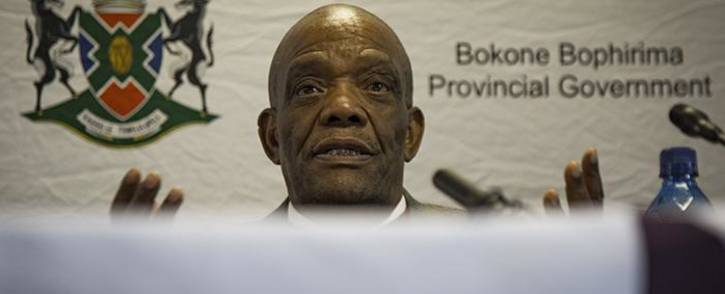North West Premier Job Mokgoro during a press briefing at the North West legislature on 22 June 2018. Picture: Sethembiso Zulu/EWN
