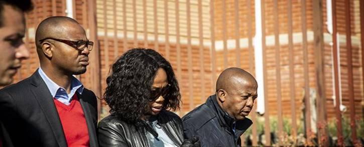 Given and Ipeleng Mkhari leave the Randburg Magistrates Court on 12 July. Picture: Kayleen Morgan/EWN