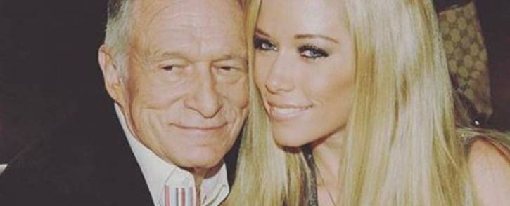 Kendra Wilkinson and Hugh Hefner early this year. Picture: Instagram/kendra_wilkinson_baskett