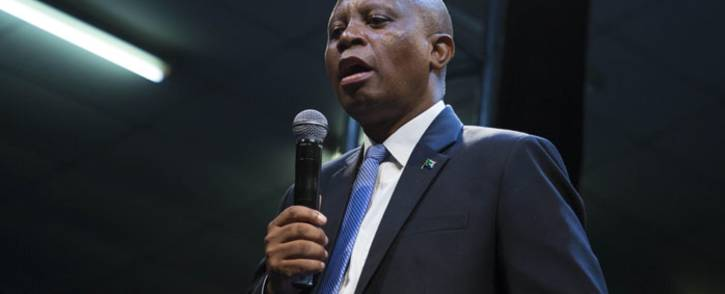 Johannesburg Mayor Herman Mashaba is seen at a hall in Alexandra during a DA event. Picture: Ihsaan Haffejee/EWN.