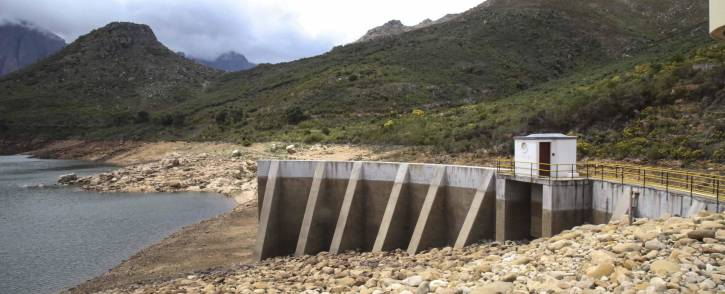 The Wemmershoek Dam in the Western Cape is currently just over 49% full. Picture: Cindy Archillies/EWN