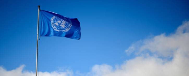 FILE: A flag of the UNited Nations floats at their Geneva's offices. Picture: AFP.