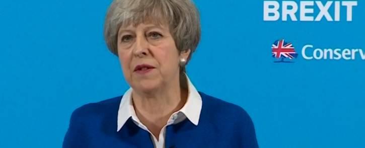 British Prime Minister Theresa May. PIcture: screengrab/CNN