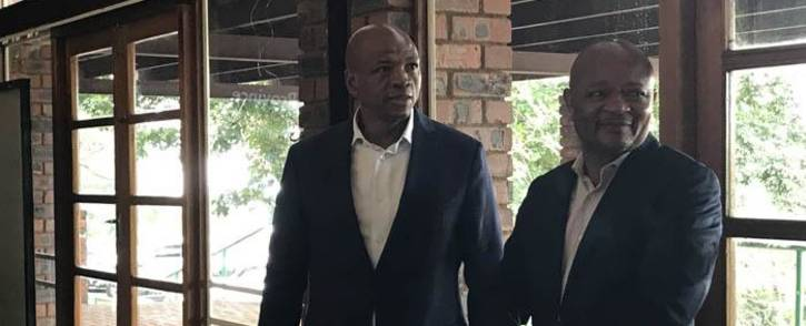 North West Premier Supra Mahumapelo seen on 18 April 2018, where ANC met to discuss tensions in the province amid calls for his resignation. Picture: Ihsaan Haffajee/EWN