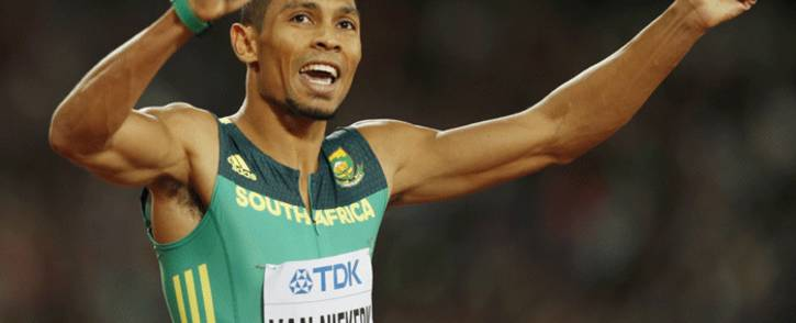 FILE: South Africa's Wayde van Niekerk celebrates after winning second place in the final of the men's 200m athletics event at the 2017 IAAF World Championships at the London Stadium in London on 10 August 2017. Picture: AFP