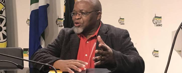 FILE: ANC secretary-general Gwede Mantashe briefing the media. Picture: Kgothatso Mogale/EWN